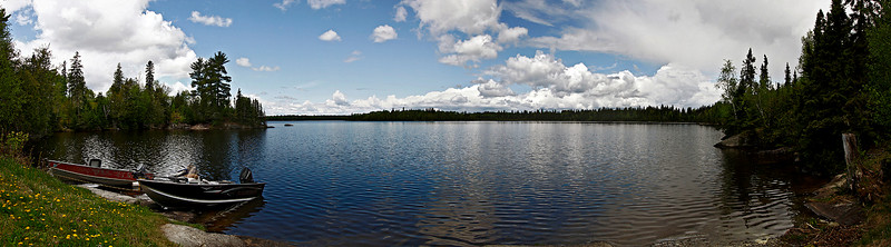 Pickeral Lake, Ontario. <br /> <br /> 8 photos stitched together. The stitch job wasn't 100% perfect but that's ok.