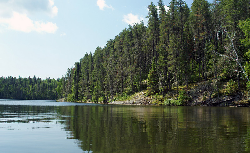 Shoreline of a small bay on Ghost Lake.
