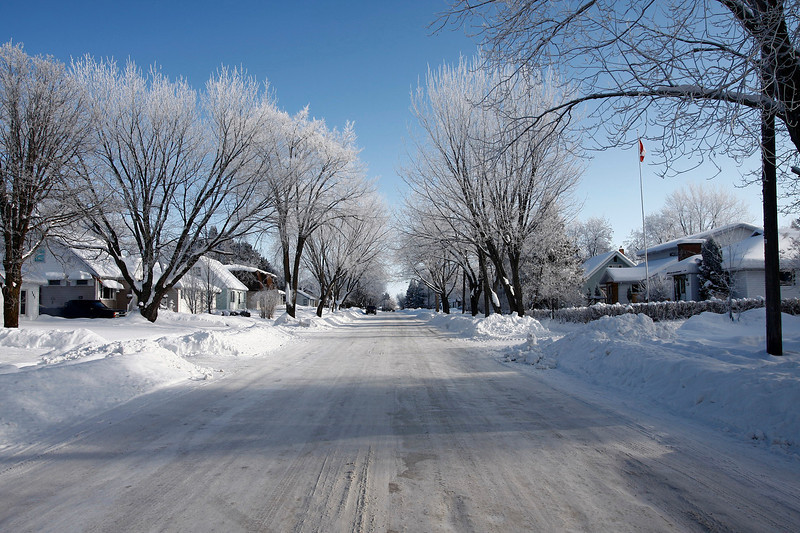 One of the local streets of my town, taken one cold winter morning.