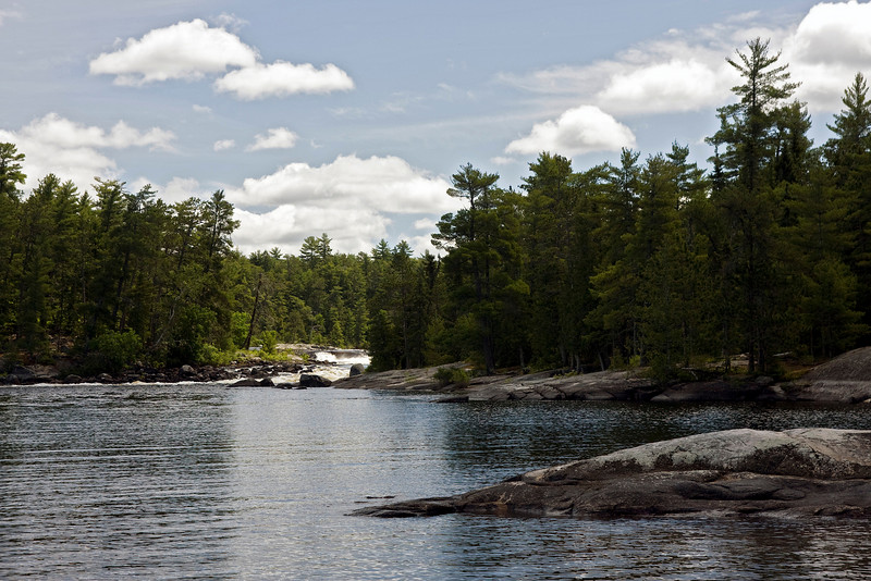 Chatterton Falls in Quetico Park as seen from our campsite.