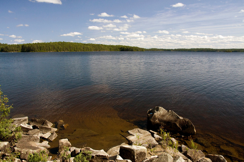 A view from one of our campsites in Quetico Park.