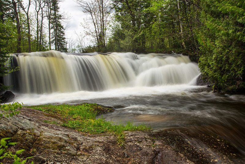 Raleigh Falls (NW Ontario) with a 1 second exposure at F 22 and a ISO of 50.