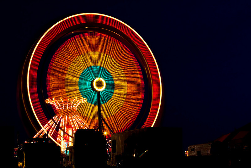 Ferris wheel from the local Fall Fair. This was a 13 second exposure.