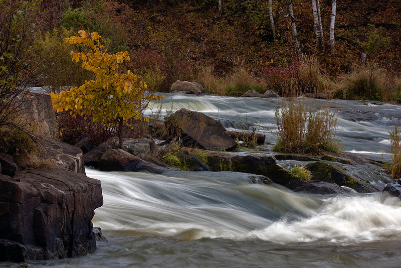 Some fall colours on a part of Wabigoon River in Dryden Ontario.