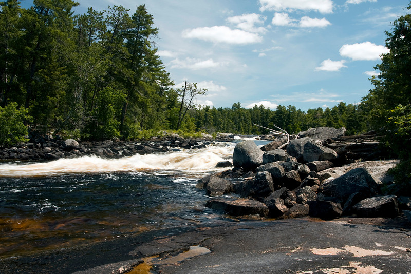 Part of Chatterton Falls in Quetico Park.