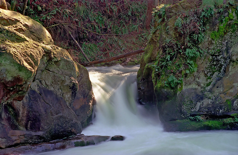 Short Falls in Whatcom Park. This is a bit of a close up view of the falls. Reworked in PS CS2.