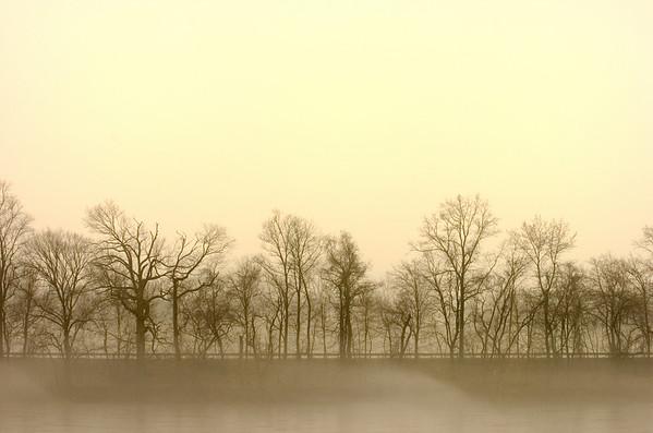 Foggy Delaware River