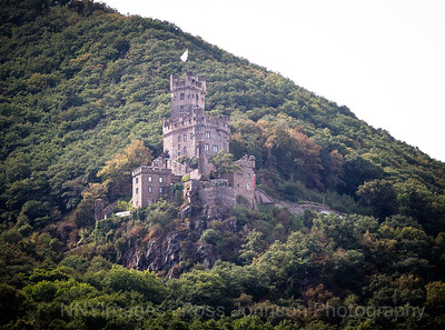 5D321516 Sailing thru the UNESCO protected Rhine Gorge