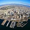 San Diego skyline aerial