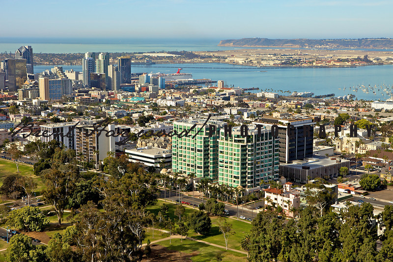 San Diego skyline, Downtown aerial