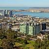 San Diego skyline, Downtown aerial