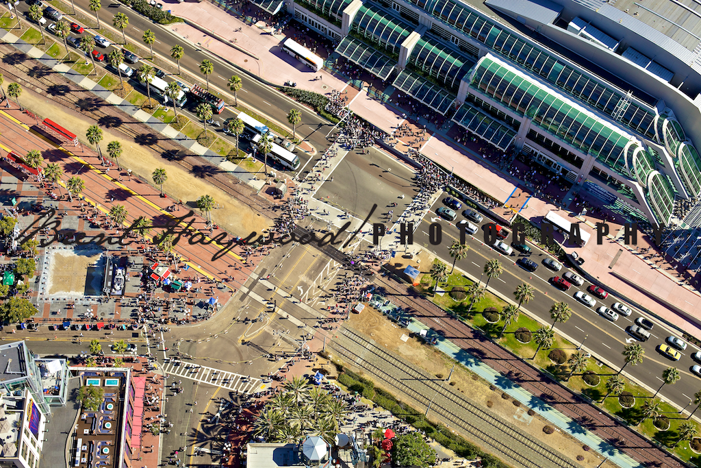 Aerial photography, San Diego Convention center