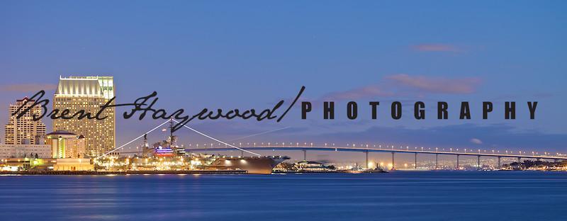 Coronado Bay Bridge, Aircraft carrier