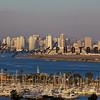 San Diego skyline, Point Loma, Shelter Island