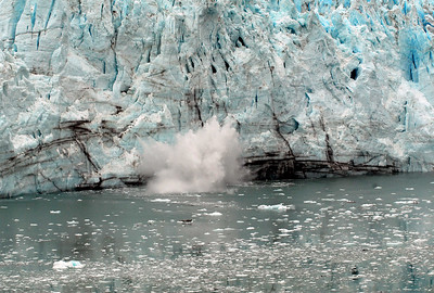 Glacier calving into the bay, Glacier Bay, AK