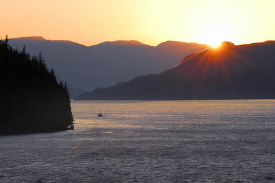 Sunset - Inside Passage en route to Vancouver.