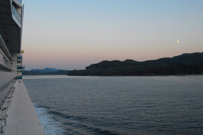 Moonrise - Inside Passage en route to Vancouver.
