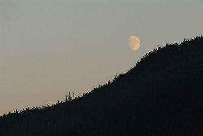 Moonrise - Inside Passage en route to Vancouver.