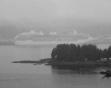 Island Princess thru the fog-Ketchikan