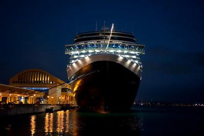 Holland America's m.s. Eurodam, docked at San Juan, Puerto Rico.