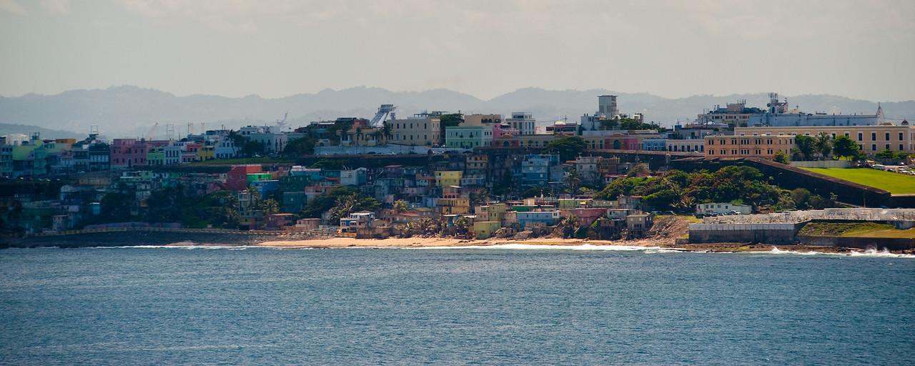 Old San Juan as seen from the ocean.
