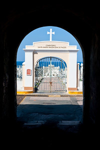 Entrance to the cemetery Santa Maria Magdalena De Pazzis at Old San Juan, Puerto Rico.