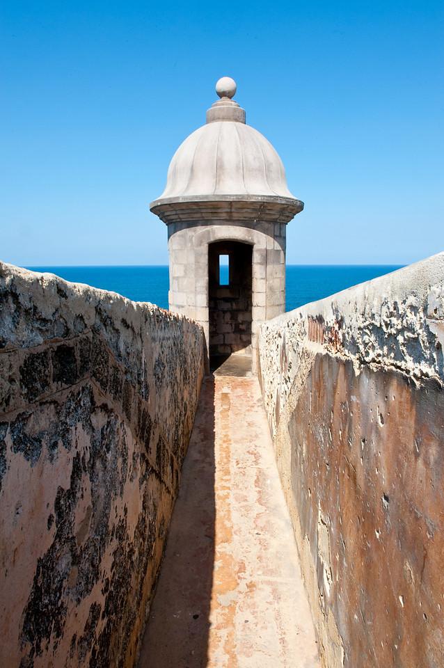 A garita guard position at El Morro, San Juan Puerto Rico.