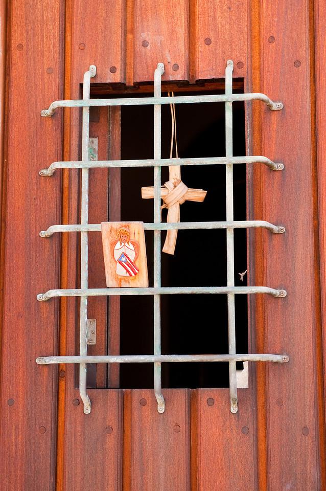 Closeup detail of door in Old San Juan.