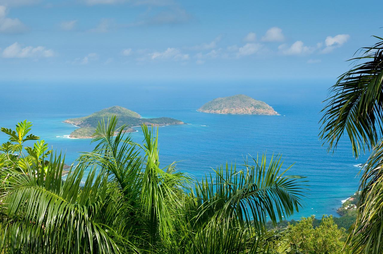 Small islands off the coast of St. Thomas, U.S. Virgin Islands.
