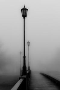 Foggy bridge, Wichita, Ks.