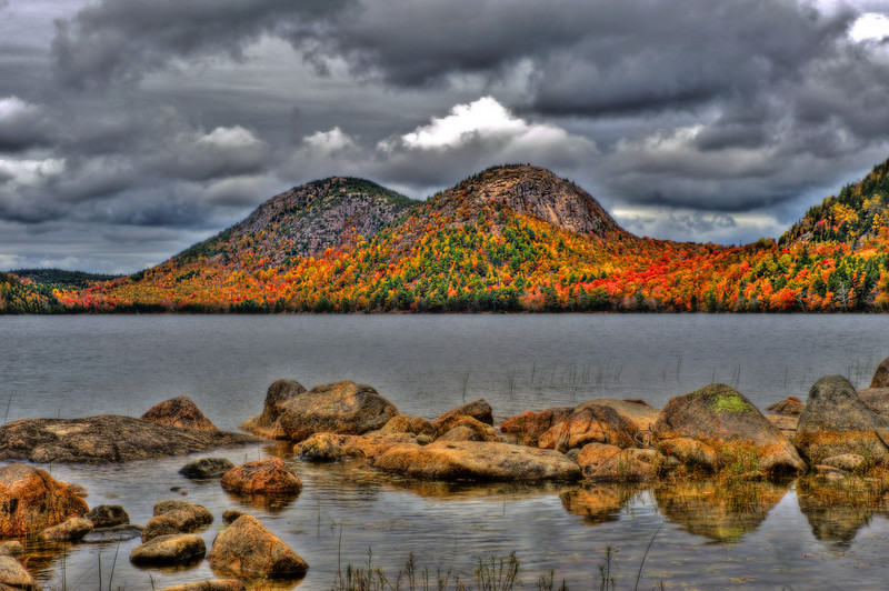 Jordan Pond, in Acadia National Park, Maine.