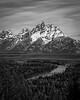 Grand Teton from the Snake River Overlook.