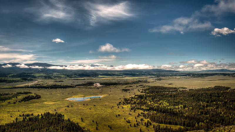 Looking roughly south from the top of Signal Mountain, Grand Teton National Park.