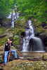 Rob Pawliske stands in front of the Upper section of Dark Hollow Falls, Shendoah Pkwy., Va.