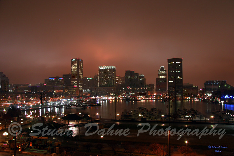 Baltimores Inner Harbor by Night