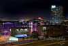 "Parts of Baltimore are lit in purple in support of ""The Ravens"" football team."
