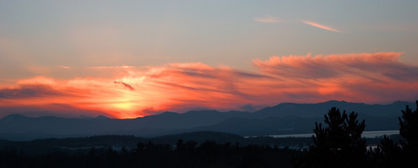Sunset Over The Adirondacks