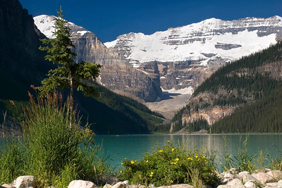 Lake Louise, Victoria Mountain, and Victoria Glacier