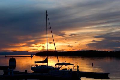 Sailboat at Nightfall