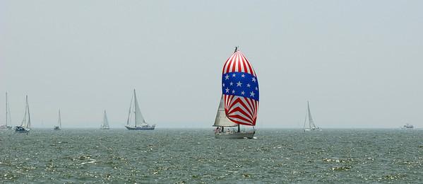 Sailboat with Spinnaker Sail