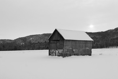 Hay Barn in Winter