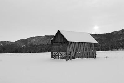 Hay Barn in Winter