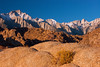 Alabama Hills and Mount Whitney, California.  October 20, 2009