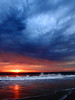 Stormy sunset near Dana Point, California.  September 2010