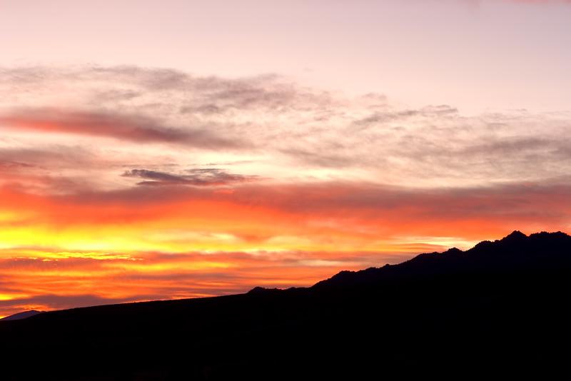 Sunrise, Eastern Sierra Nevada, California. October 18, 2009