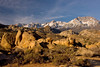 Sunrise at Butterfield Boulders, Eastern Sierra Nevada, California.  October 18, 2009