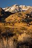 Sunrise, Butterfield Boulders, Eastern Sierra Nevada, California.  October 19, 2009