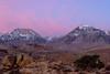 Dawn at Butterfield Boulders, Eastern Sierra Nevada, California.  October 18, 2009