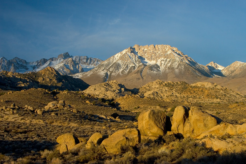 Butterfield Boulders, Eastern Sierra Nevada, California. October 18, 2009