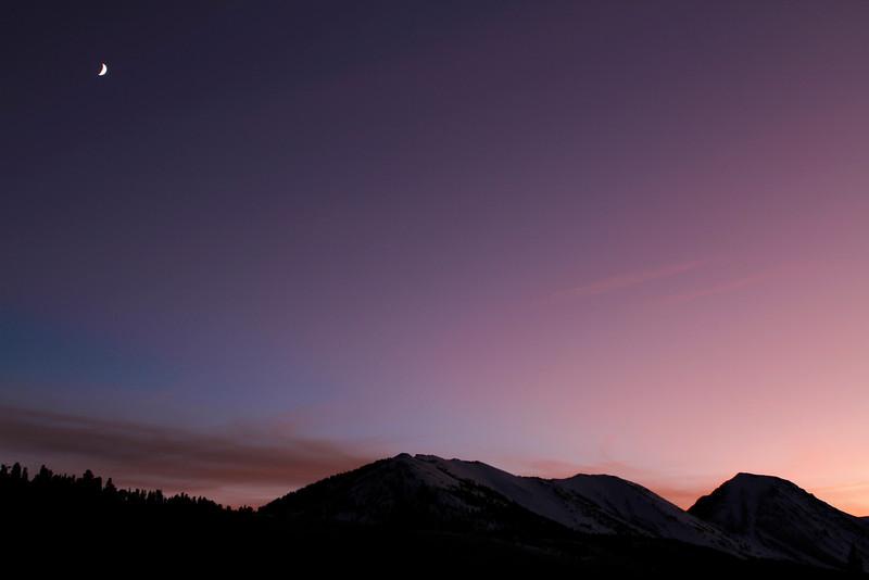 Sunset, Eastern Sierra Nevada, California.  October 23, 2009